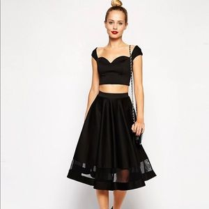 ASOS a line skirt with cutouts